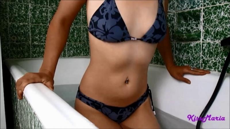 Mit KissMaria entspannend Geil in der Badewanne